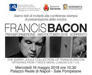 PRESENTAZIONE DELLA MOSTRA FRANCIS BACON 16 maggio ore 10.30 Palazzo Reale-Sale Pompeiane