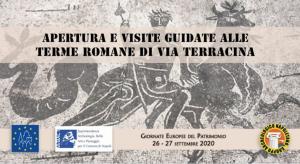 ANNULLATA:  26 e 27 Settembre 2020 Apertura straordinaria delle Terme Romane di via Terracina