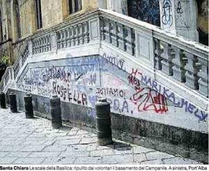 Bando del Comune di Napoli per la manifestazione di interesse alla pulitura dei graffiti dai Monumenti napoletani